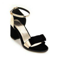 Bow Color Block Sandals