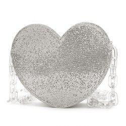 Glitter Heart Shaped Crossbody Bag