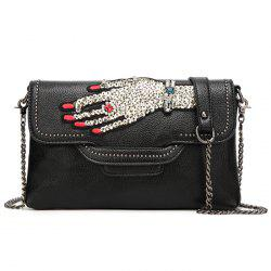 Sequin Palm Hand Chains Crossbody Bag