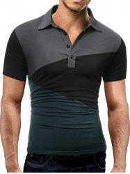 Color Block Slim Fit Strech Polo Shirt