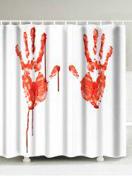 Waterproof Blood Palm Pattern Shower Curtain