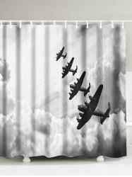 Airplane Clouds Print Waterproof Shower Curtain