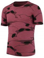 Slim Fit Crew Neck Strech Camo T-Shirt