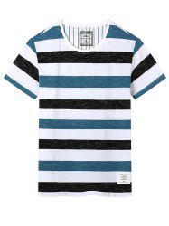 Stretch Crew Neck Stripe T-Shirt