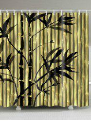 Chinese Ink Painting Bamboo Print Shower Curtain