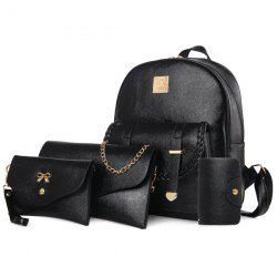 Briaded 4 Pieces Backpack Set