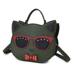 Cartoon Cat Shaped Cross Body Handbag