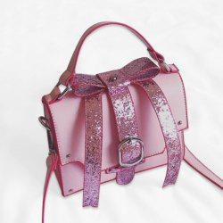 Sequin Buckle Strap Bow Handbag
