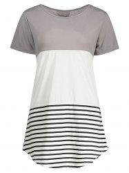 Stripe Plus Size Tunic Top