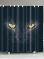 Mildew Resistant 3D Cat Eyes Shower Curtains