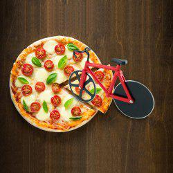 Stainless Steel Bicycle Design Pizza Cutter - RED