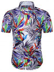 Couleurs colorées Imprimer Couverture Placket Hawaiian Shirt