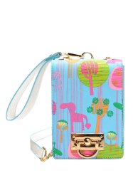 Chains Character Print Crossbody Bag