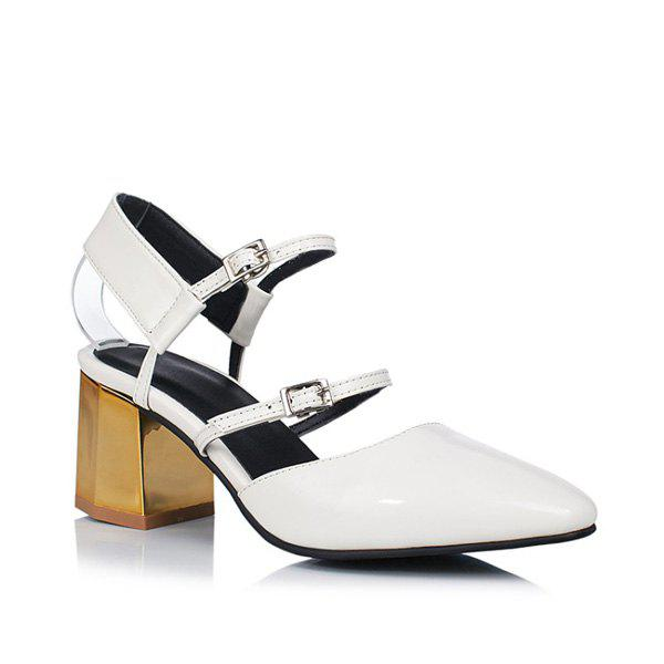 Outfit Slingback Double Buckle Strap Pumps