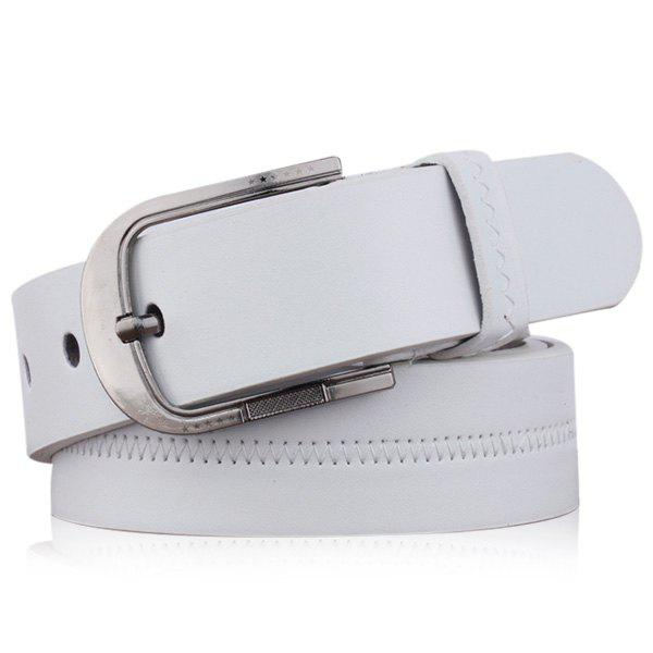 Shops Embroidered Fake Leather Pin Buckle Belt