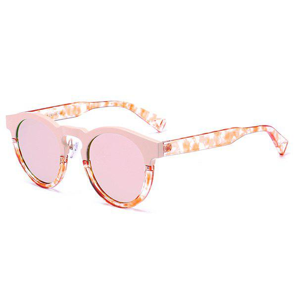 Hot Mirrored Hollow Out Leg Reflective Sunglasses