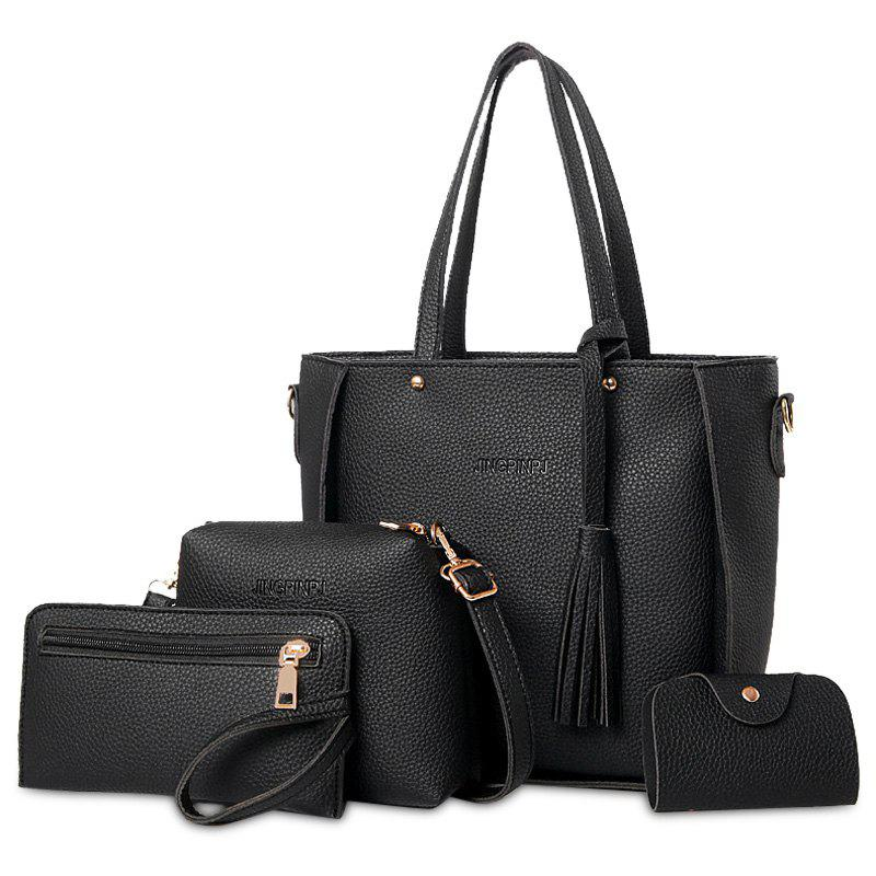 Buy Tassel 4 Pieces Tote Bag Set