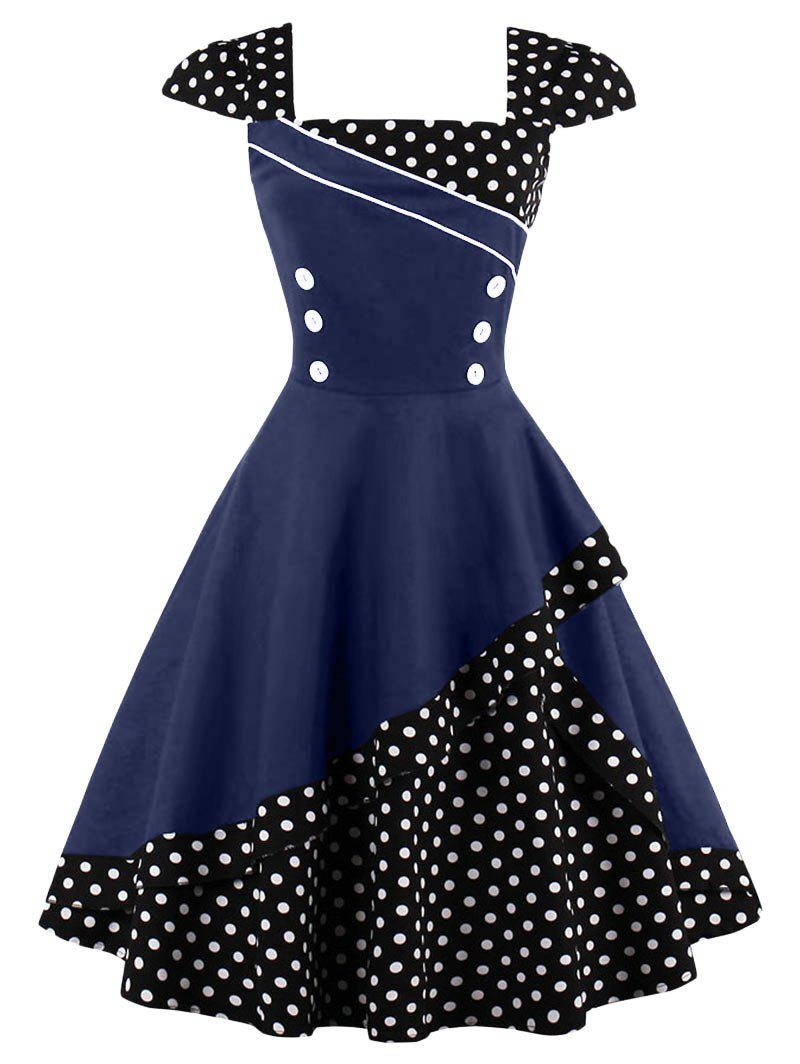 New Cap Corset Vintage Spotted Dress