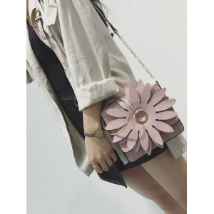 Chain Metal Ring Petal Crossbody Bag -