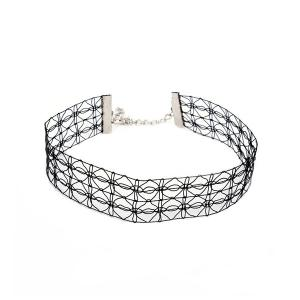 Geometric Hollow Out Wide Choker