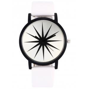 Faux Leather Strap Star Quartz Watch