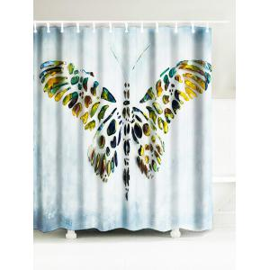 Butterfly Artistic Waterproof Polyester Shower Curtain - Light Blue - W71 Inch * L79 Inch