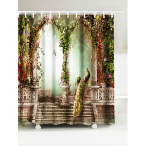 Peacock Waterproof Fabric Shower Curtain - Multicolor - W71 Inch * L71 Inch
