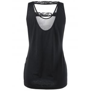 Lace Panel Cut Out Skull Tank Top - BLACK 2XL