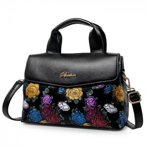 Colorful Flower Embossed Handbag