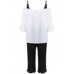 Cold Shoulder Plus Size Top And Pants