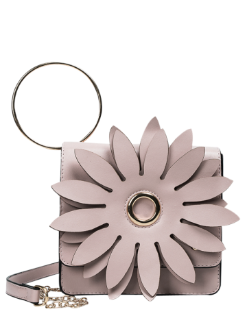 Buy Chain Metal Ring Petal Crossbody Bag