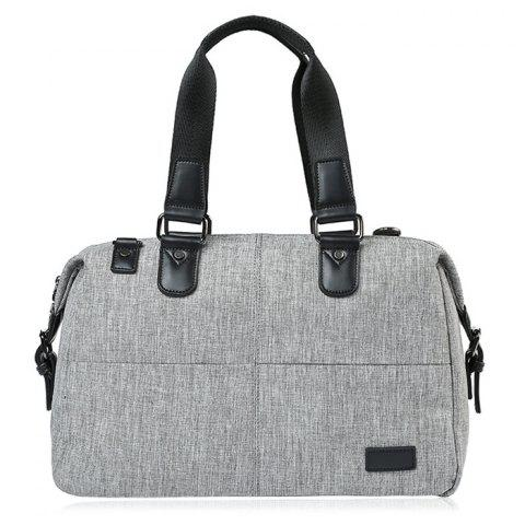Sale Canvas Cross Body Tote Bag - GREY WHITE  Mobile