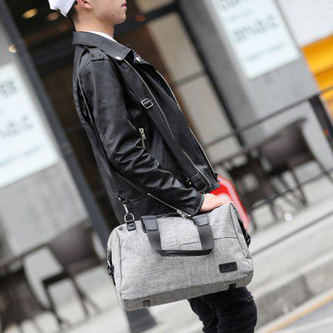 Trendy Canvas Cross Body Tote Bag - GREY WHITE  Mobile