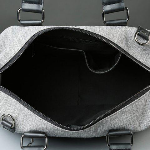Best Canvas Cross Body Tote Bag - GREY WHITE  Mobile