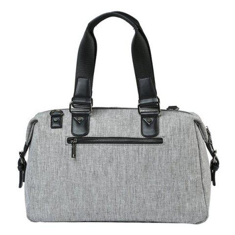 Hot Canvas Cross Body Tote Bag - GREY WHITE  Mobile