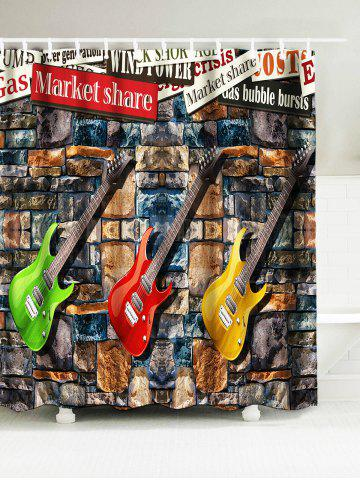 Guitar Water Resistant Fabric Shower Curtain - Colormix - W71 Inch * L79 Inch