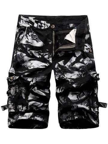 Online Zipper Fly Cargo Shorts with Multi Pockets