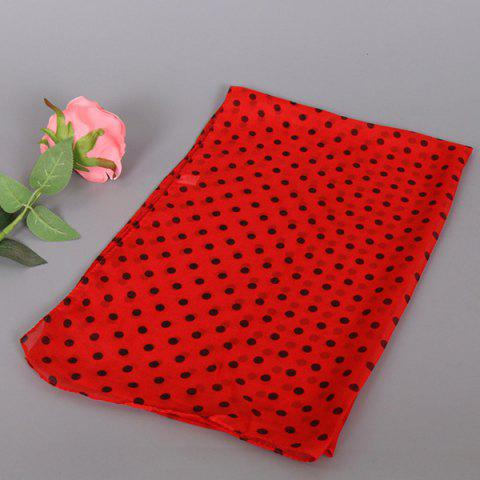 Online Gossamer Tiny Polka Dot Shawl Scarf - RED  Mobile