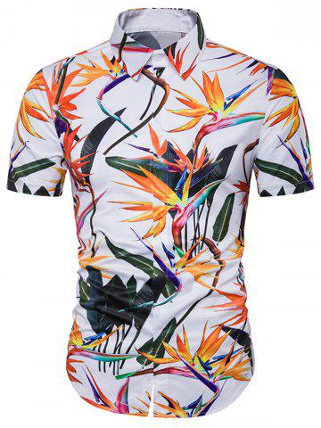Cover Placket Colorful Floral 3D Hawaiian Shirt Multicolore 3XL