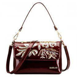 Patent Leather Sequined Shoulder Bag