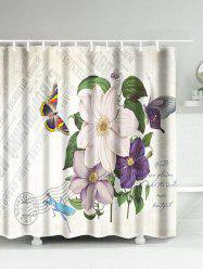 Flower Butterfly Mantis Waterproof Bath Curtain