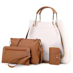 Metal Handle 4 Pieces Tote Bag Set - OFF-WHITE