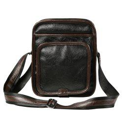 PU Leather Contrast Crossbody Bag