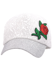 Rose Embroidered Chinoiserie Sunproof Baseball Cap