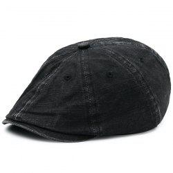 Washable Artificial Frayed Denim Newsboy Hat