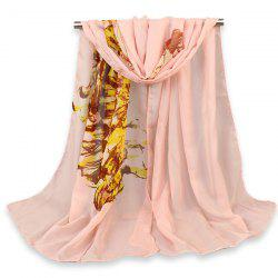 Gossamer Beauty Figure Painted Printing Shawl Scarf