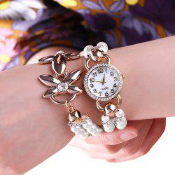 Beaded Strap Number Wrap Bracelet Watch