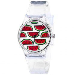 Fruit Face Silicone Strap Quartz Watch