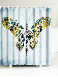 Butterfly Artistic Waterproof Polyester Shower Curtain