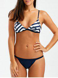 High Cut Cami Bikini Set With Anchor Print